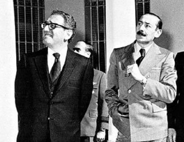 ▲ 아르헨티나 독재자 호르헤 비델라 장군 (1970 년대)과 키신저